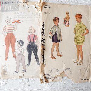 50s Toddlers Patterns: Jodhpurs, Shorts, Shirts